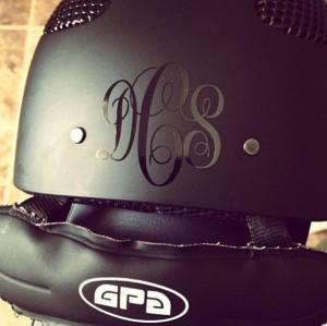 Personally Preppy Helmet Monogram
